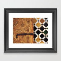 The door in The Alhambra Palace Framed Art Print by Guido Montañés