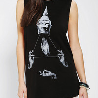 Urban Outfitters - Corner Shop Buddha & Hands Muscle Tee