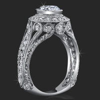 Head Turning Bezel Set Vintage Queen with Stylish Antique Qualities and Unsurpassed Beauty – bbr286 | Unique Engagement Rings, Flower Rings, Vintage & Antique Engagement Rings