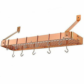 Old Dutch Cookware Rack with Grid, Satin Copper Hanging New Free Shipping
