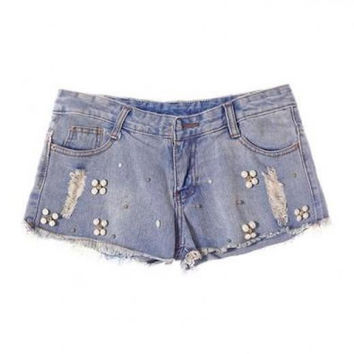 Vintage Straight Denim Shorts
