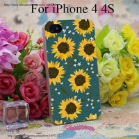 2916W Summer Garden Sunflowers Transparent Hard Case Cover for iphone 7 7 Plus 6 6s plus 4 4s 5 5s SE 5c