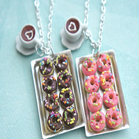 donuts and coffee necklace