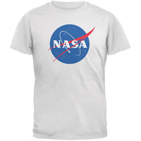 NASA Logo White Adult T-Shirt