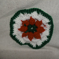 Handmade Holiday crocheted coasters set of by CanadianCraftCritter