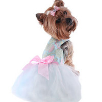Dog Harness Dress, Chihuahua Dog  Dress, Yorkie Clothing, Tutu Dresses For Small Dogs, Dog Boutique