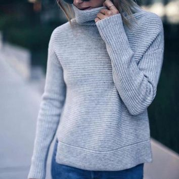 Knit Tops Winter Needles Long Sleeve Bottoming Shirt [498444927022]