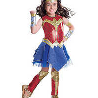 Kids Wonder Woman Costume Deluxe-Batman v Superman - Spirithalloween.com