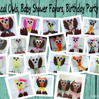 Wholesale Handmade Whimsical Owls, Birthday & Baby Shower Party Favors