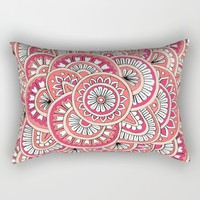 Coral, Peach & Magenta Wonderland Rectangular Pillow by Sarah Oelerich