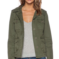 Sanctuary Troop Peplum Jacket in Army