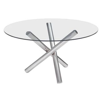 Stant Round Dining Table Stainless Steel