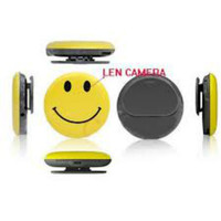 Hidden Car DVR Smile face Spy Camera Yellow