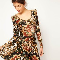 Freak Of Nature Baroque and Roll Studded Dress at asos.com