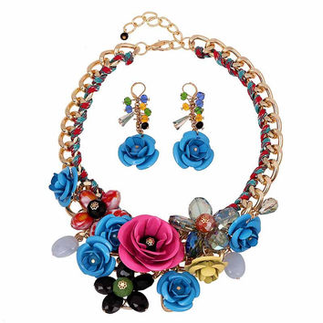 Blooming Flower Statement Necklace