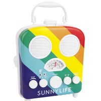 Retro Rainbow Design Portable MP3 Speaker System Beach Boombox by Sunnylife Australia