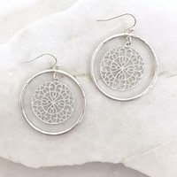 Woven In Silver Earrings