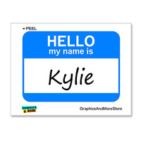 Kylie Hello My Name Is Sticker