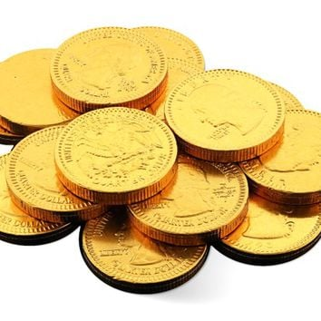 Milk Choc Gold Coins 1.1in - Novelty, Milk - Fort Knox - Holland - 3 oz