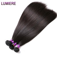 Brazilian Straight Hair Weave Bundles Can Buy 3 Or 4 Bundles Human Hair Bundles Non Remy Lumiere Hair Extension One Bundle