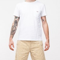 Kitsune Parisien Parisien Man T-Shirt in White