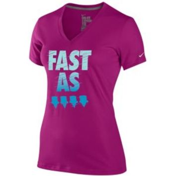 Nike Dri-FIT Cotton Graphic Running T-Shirt - Women's at Lady Foot Locker