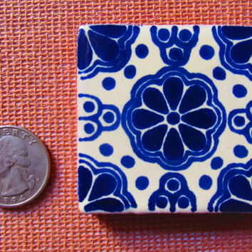 Mexican Tile Talavera Handmade talavera tile 2x2 mosaic craft tiles construction tribal tile magnet L02