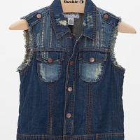 Women's Denim Vest in Blue by Daytrip.