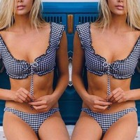 Sara plaid bikini set