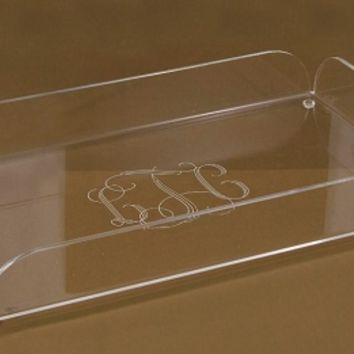 Monogrammed Acrylic Large Tray with Handles | Preppy Kitchen Gift
