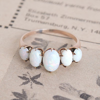 Victorian Five Opal Cabochon Ring | Erica Weiner