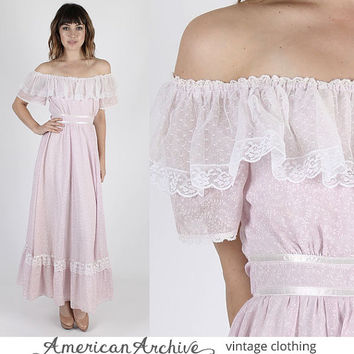 Gunne Sax Dress Prairie Dress Boho Wedding Dress Hippie Dress Jessica McClintock Vintage 70s Boho Prairie Purple Tiny Floral Party Maxi S