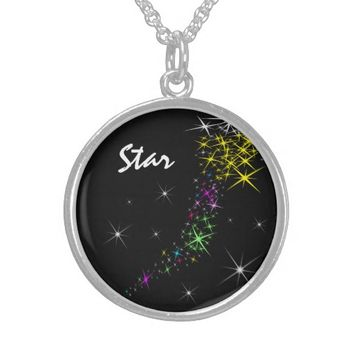 Christmas Star Round Pendant Necklace