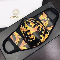 Versace Masks Laser Print High quality comfortable breathable isolation mask black gold