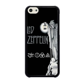 led zeppelin darkness iphone 5c case cover  number 1