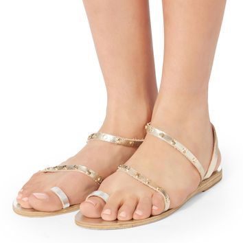 Apli Eleftheria Studded Gold Sandals