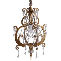 Rustique Gold Chandelier