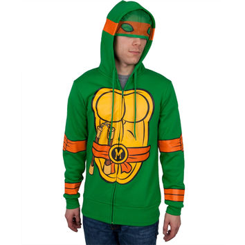 Teenage Mutant Ninja Turtles - I Am Michelangelo Costume Zip Hoodie