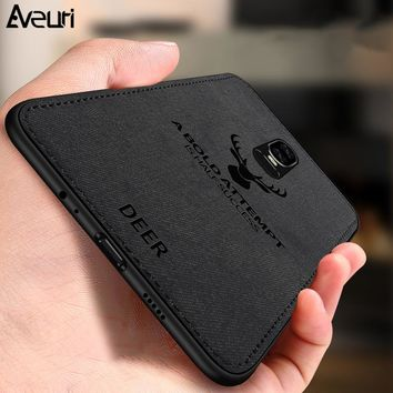 Aveuri Nordic Business Case For Oneplus 6 6T Coque Ultra-thin Silicone TPU Leather Cloth Back Cover Phone Case For Oneplus 5 5T