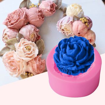 1PC Silicone Cake Mold High Quality Rose Flower Candy Pan Chocolate Soap Molds Cake Stencils Bakery Pastry Baking Tools