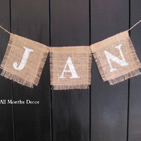 Personalized Name or Word Burlap Pennant Banner