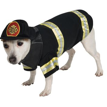 Pet Costume Firefighter Sm for 2017