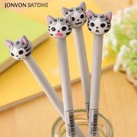 Jonvon Satone 4pcs Cute Cat Stationery Black ink Students Creative 0.5mm Office and School Supplies Japanese Kawai Stationery
