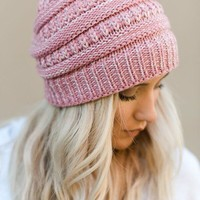 Need It Knit Beanie - Pink
