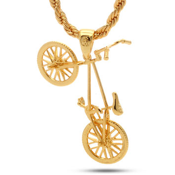 14K Gold BMX Bicycle Necklace