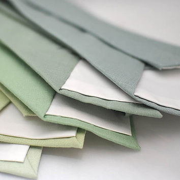 linen green shades solid ties,matte looks fabric,pistachio,hemlock,dusty shale,wedding neck tie,groom,groomsmen,men,wedding set,green party