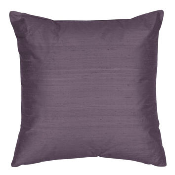 Throw Pillow Cover - Silk Dupioni Decorative Pillow -16,18,20,22,24 inch Pillow Cushion - Silk Fabric: Periwinkle