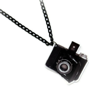 Camera / PHOTOGRAPHY Necklace by DeathwishDesign on Etsy