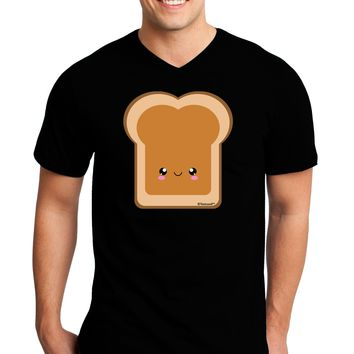 Cute Matching Design - PB and J - Peanut Butter Adult Dark V-Neck T-Shirt by TooLoud