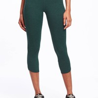 Go-Dry Cool Mid-Rise Compression Capris for Women | Old Navy